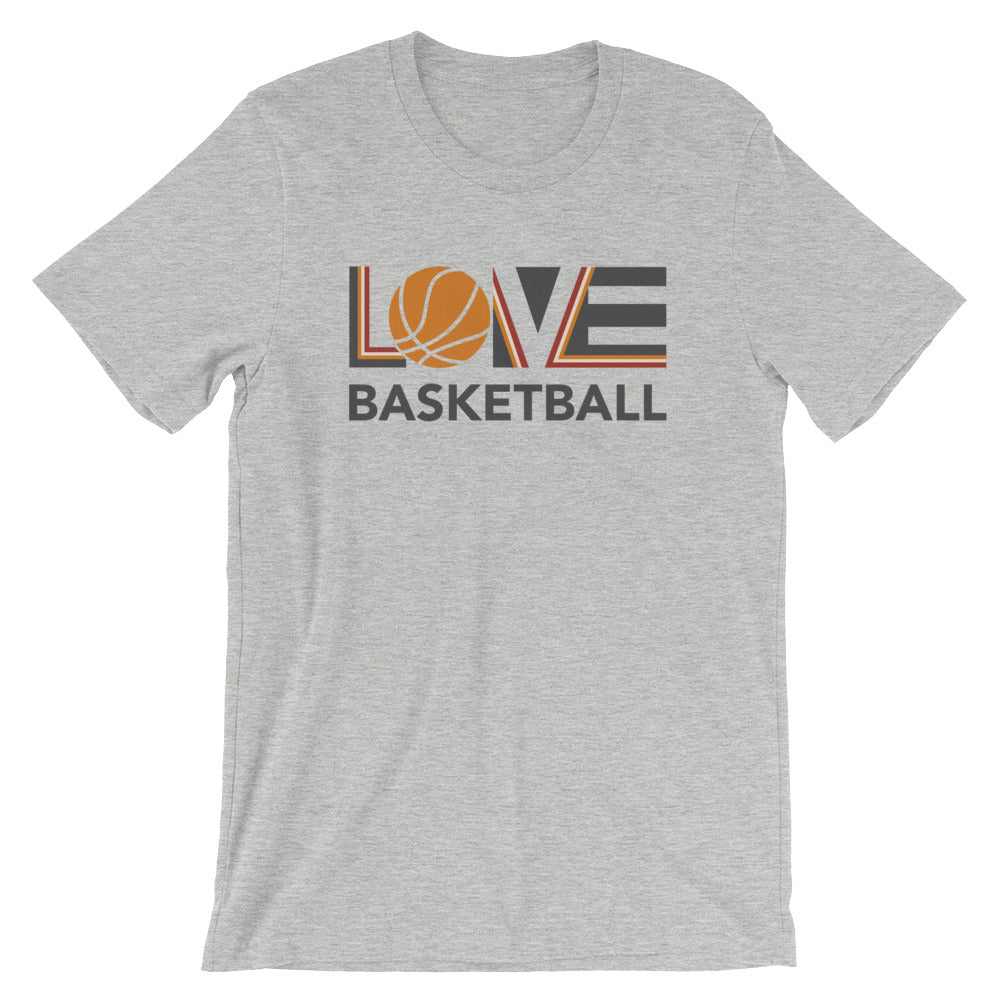 Athletic heather LOV=Basketball Unisex Tee