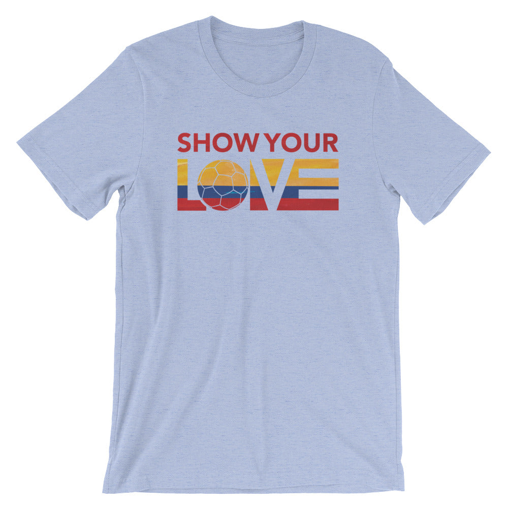 Heather Blue Show Your Love Colombia Unisex Tee
