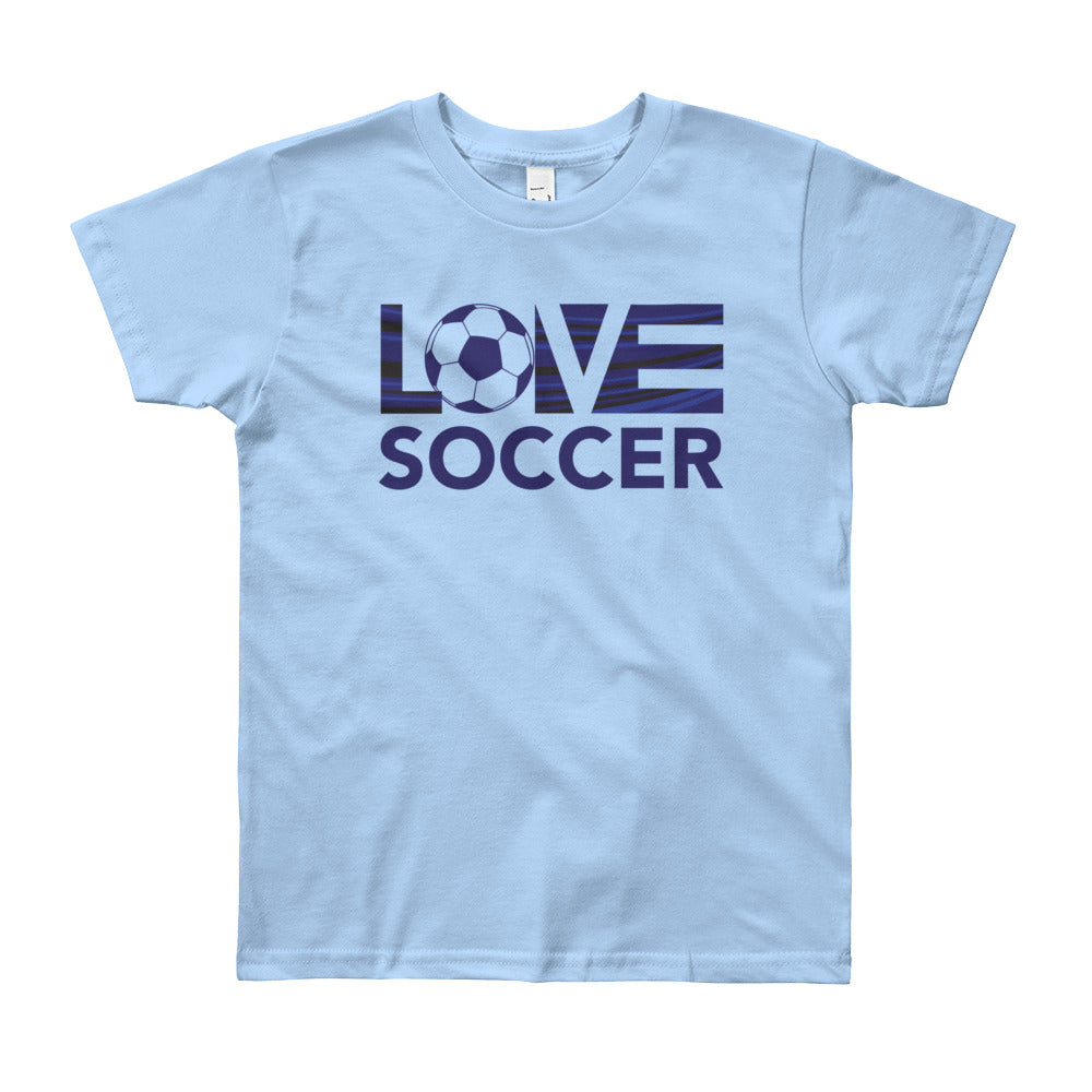 Baby blue LOV=Soccer Youth Tee