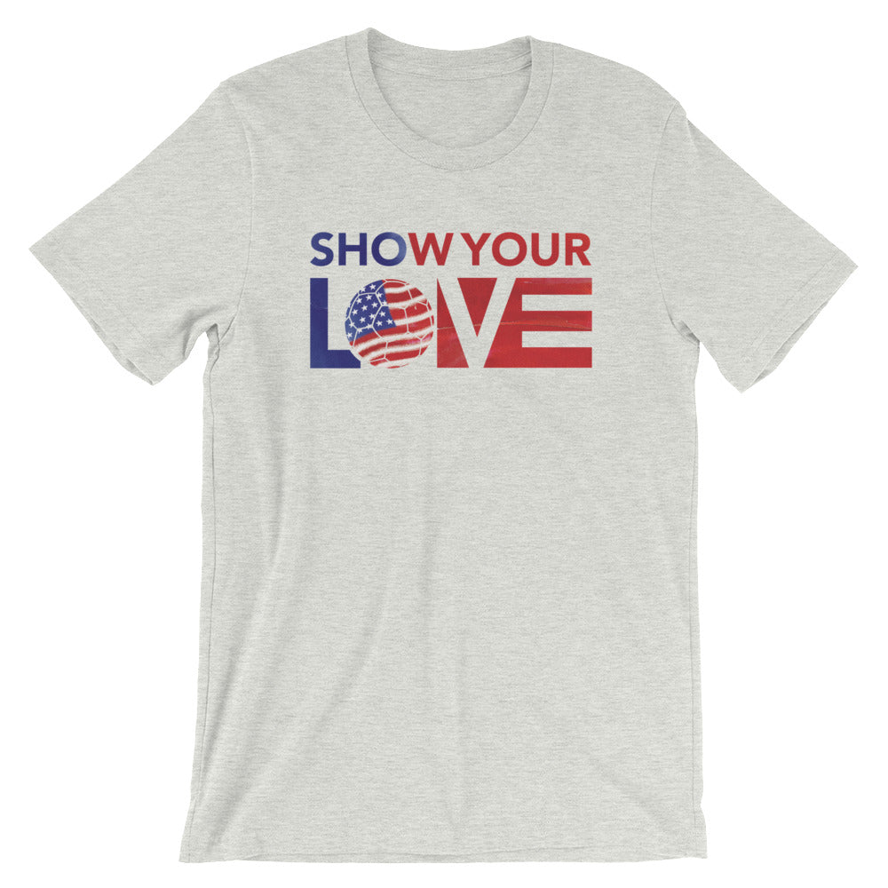 Ash Show Your Love USA Soccer Unisex Tee