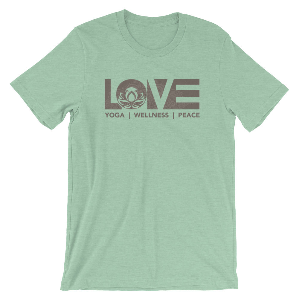 Heather Prism Mint LOV=Yoga Unisex Tee