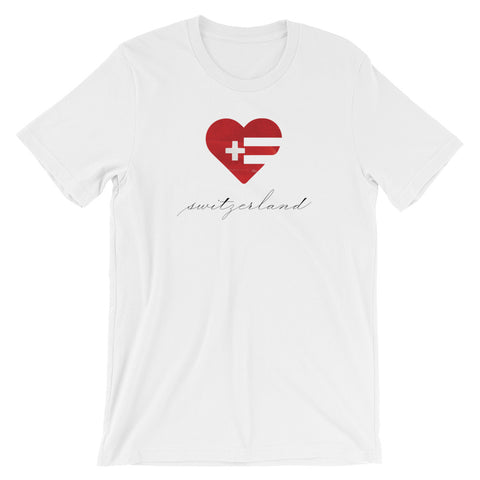 Switzerland Heart Unisex Tee