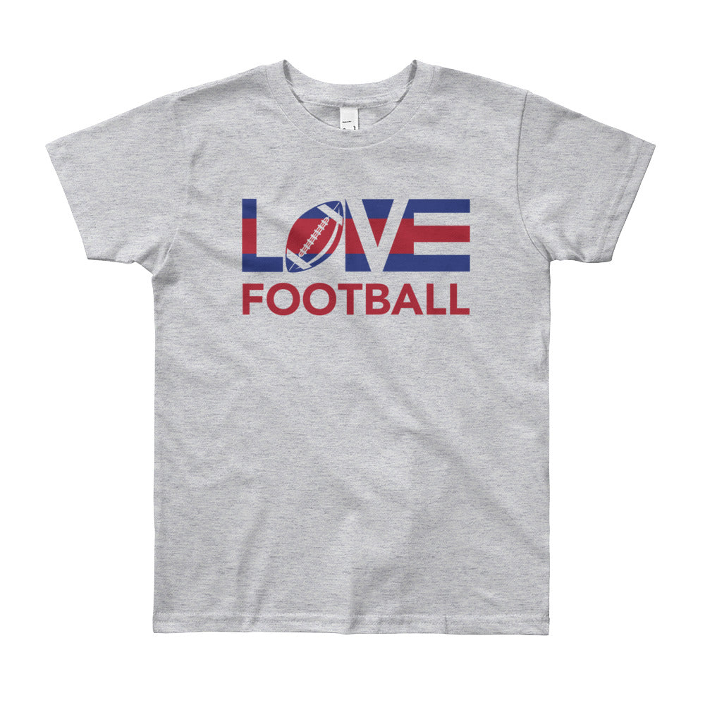 Heather grey LOV=Football Youth Tee