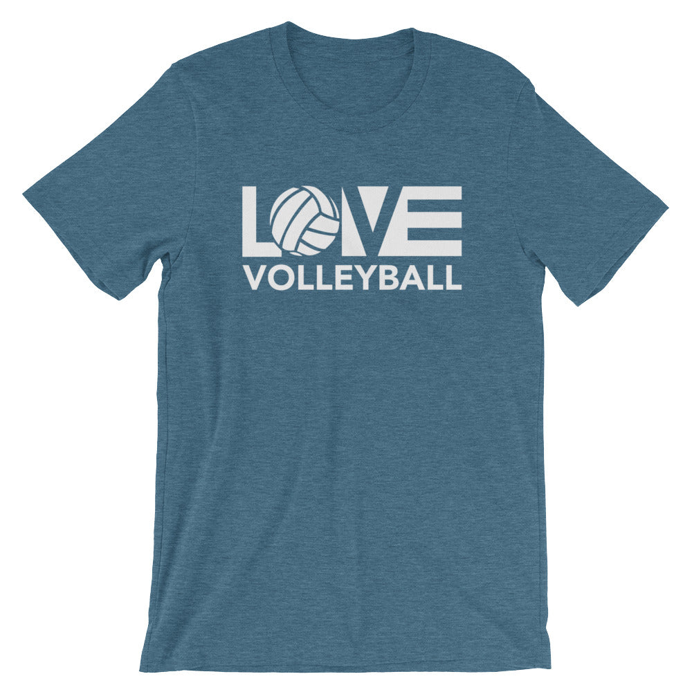 Deep Teal LOV=Volleyball Unisex Tee