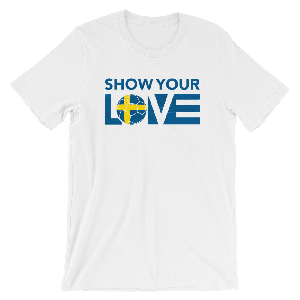 White Show Your Love Sweden Unisex Tee