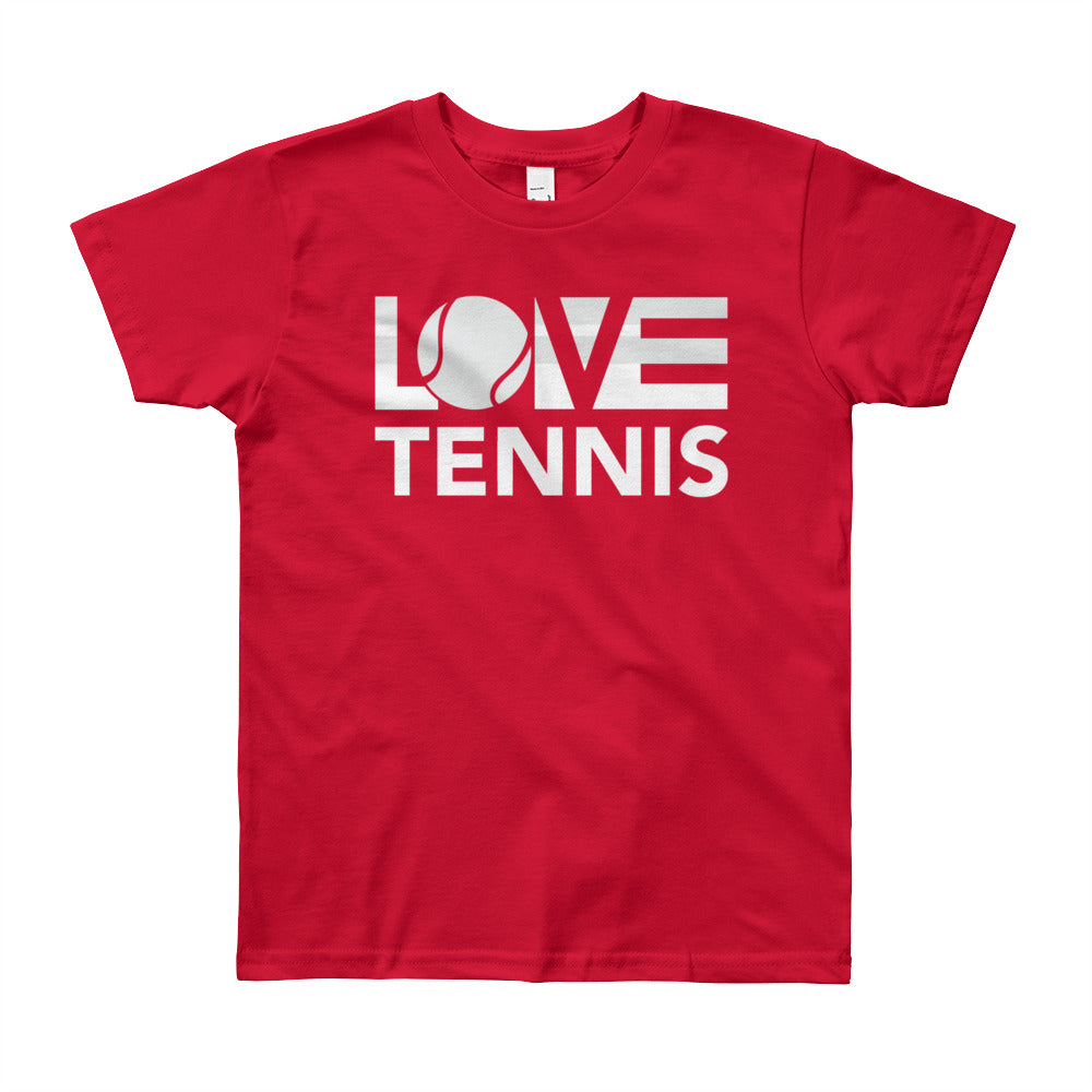 Red LOV=Tennis Youth Tee