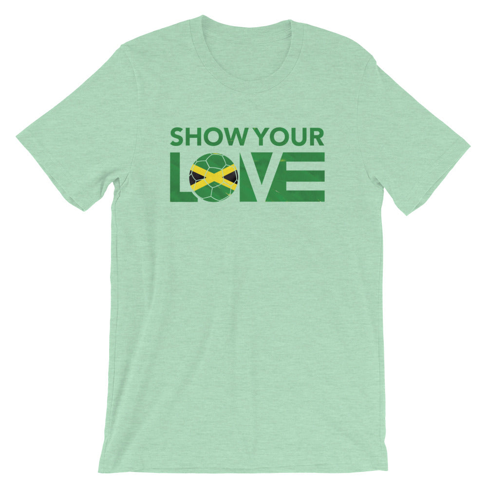 Heather Prism Mint Show Your Love Jamaica Unisex Tee