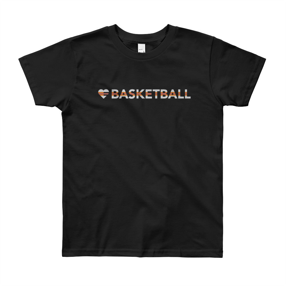 Black Heart=Basketball Youth Tee