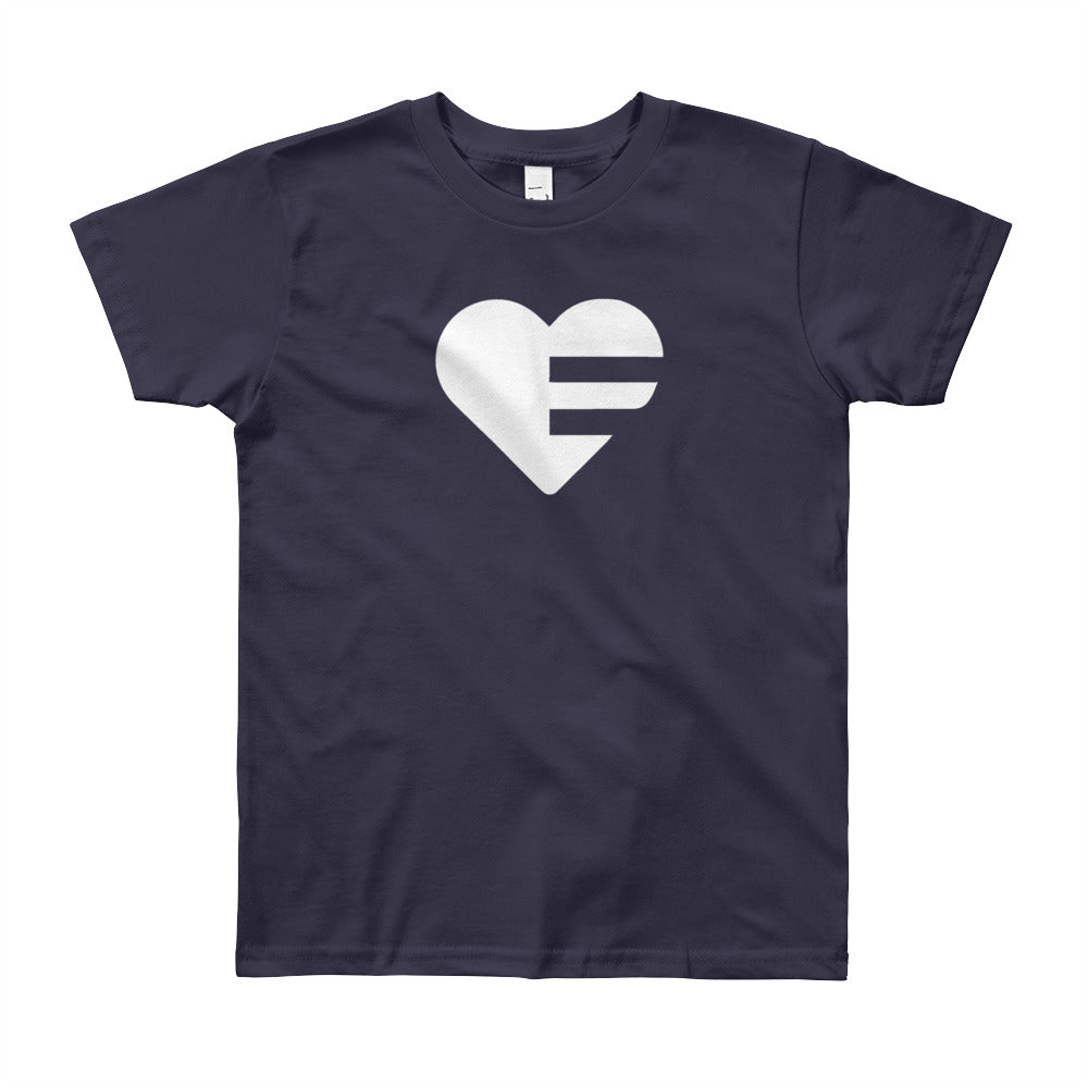 Navy Solo Heart Youth Tee