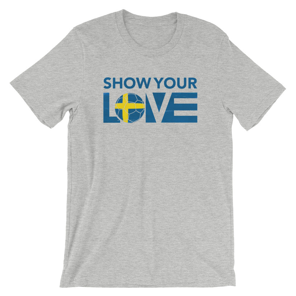 Athletic Heather Show Your Love Sweden Unisex Tee