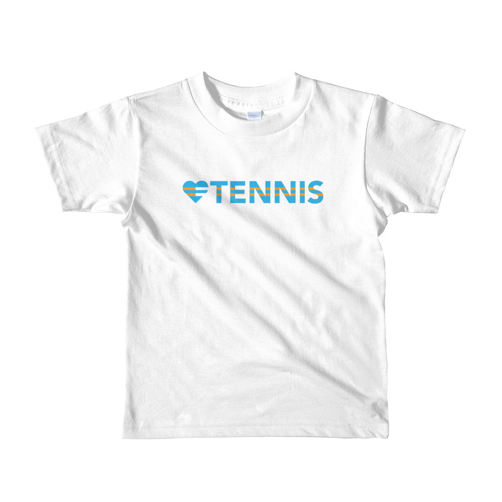 White Heart=Tennis Kids Tee