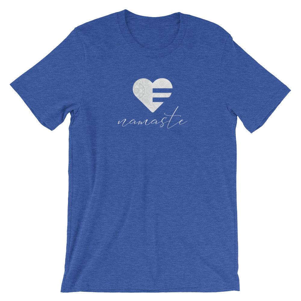 Heather True Royal Heart Namaste Unisex Tee