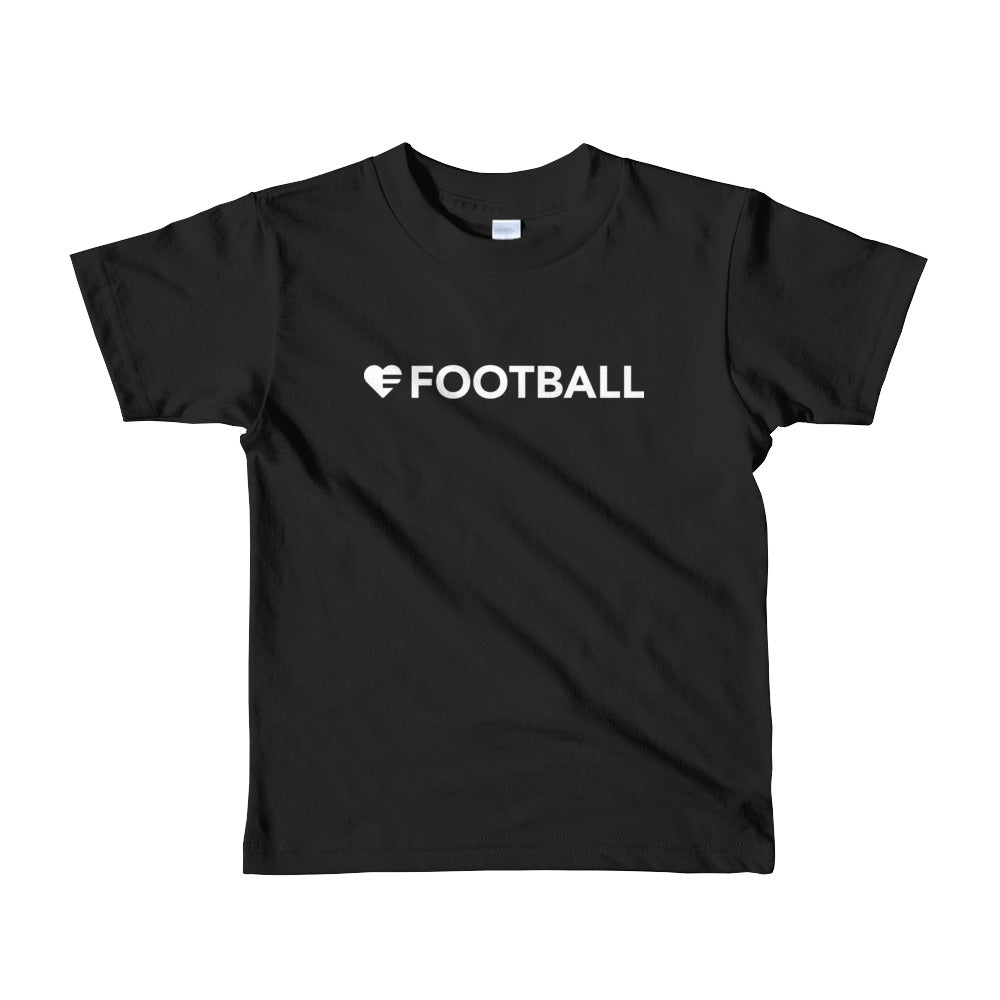 Black Heart=Football Kids Tee