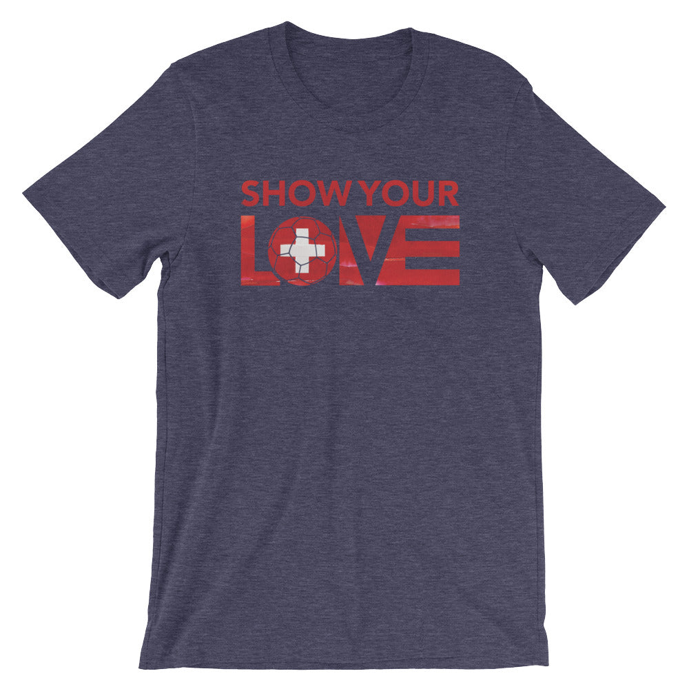 Heather Midnight Navy Show Your Love Switzerland Unisex Tee