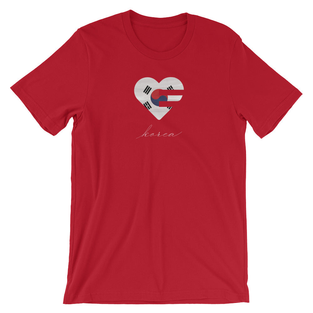 Red Korea Heart Unisex Tee