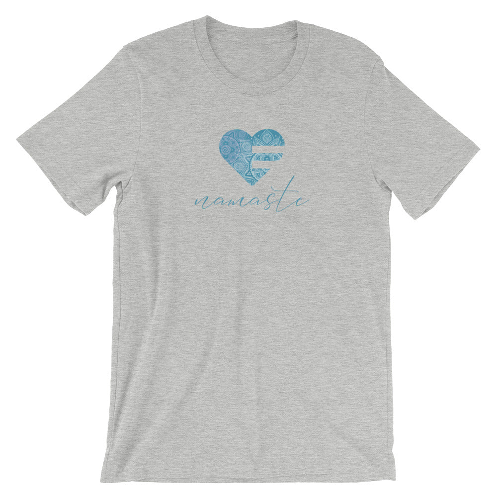 Athletic Heather Heart Namaste Unisex Tee