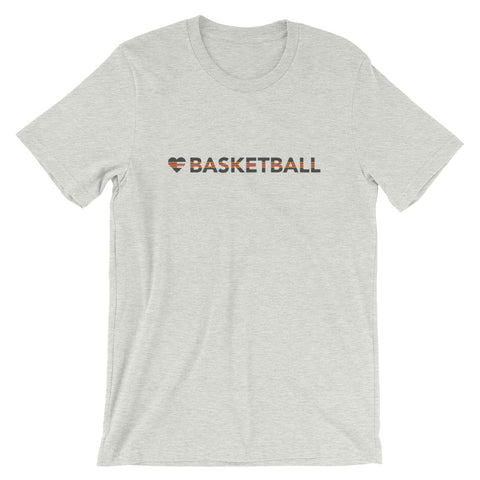 Heart=Basketball Unisex Tee