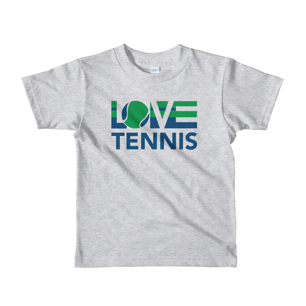 Heather grey LOV=Tennis Kids Tee
