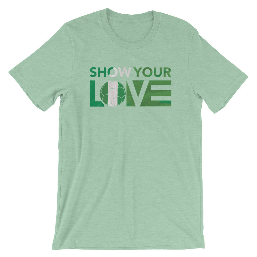 Heather Prism Mint Show Your Love Nigeria Unisex Tee