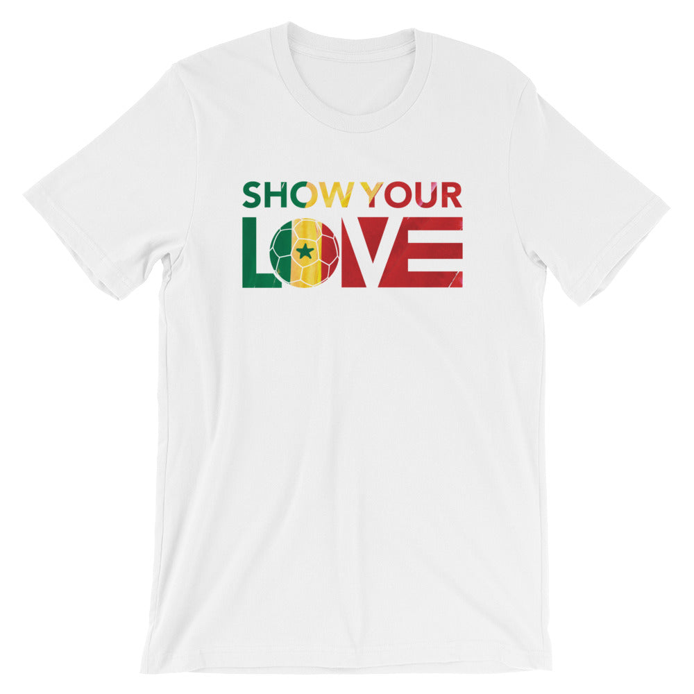 White Show Your Love Senegal Unisex Tee