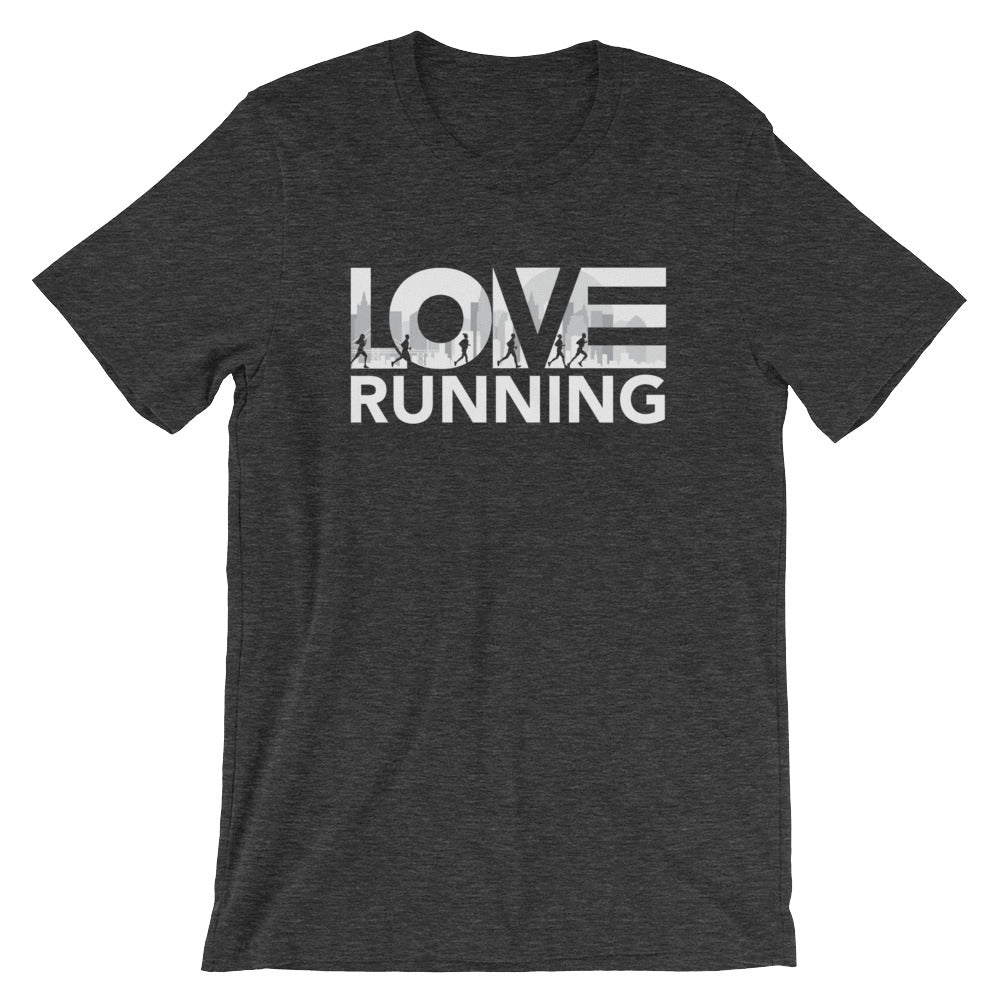 Dark grey LOV=Running Unisex Tee