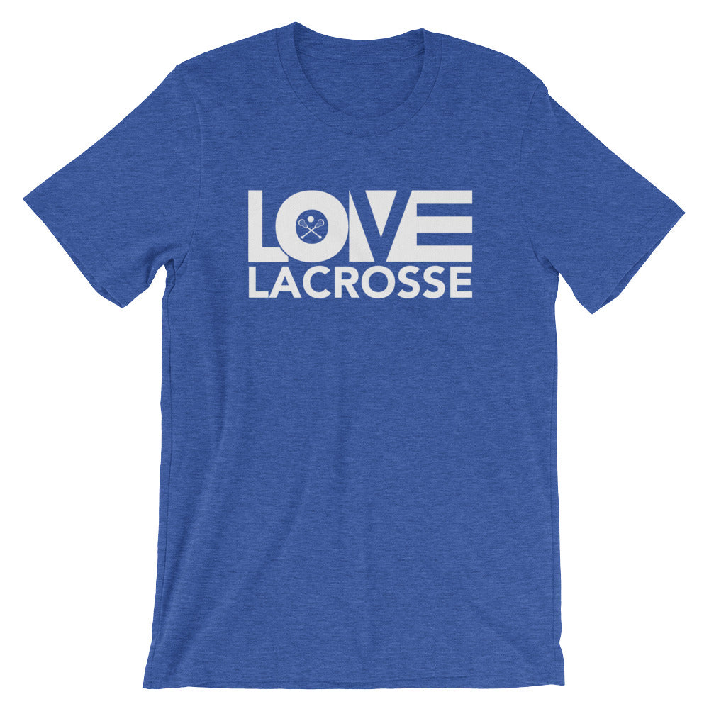 True royal LOV=Lacrosse Unisex Tee