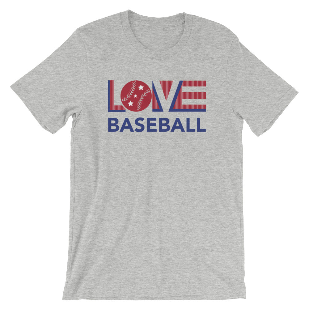 Dark grey LOV=Baseball Unisex Tee