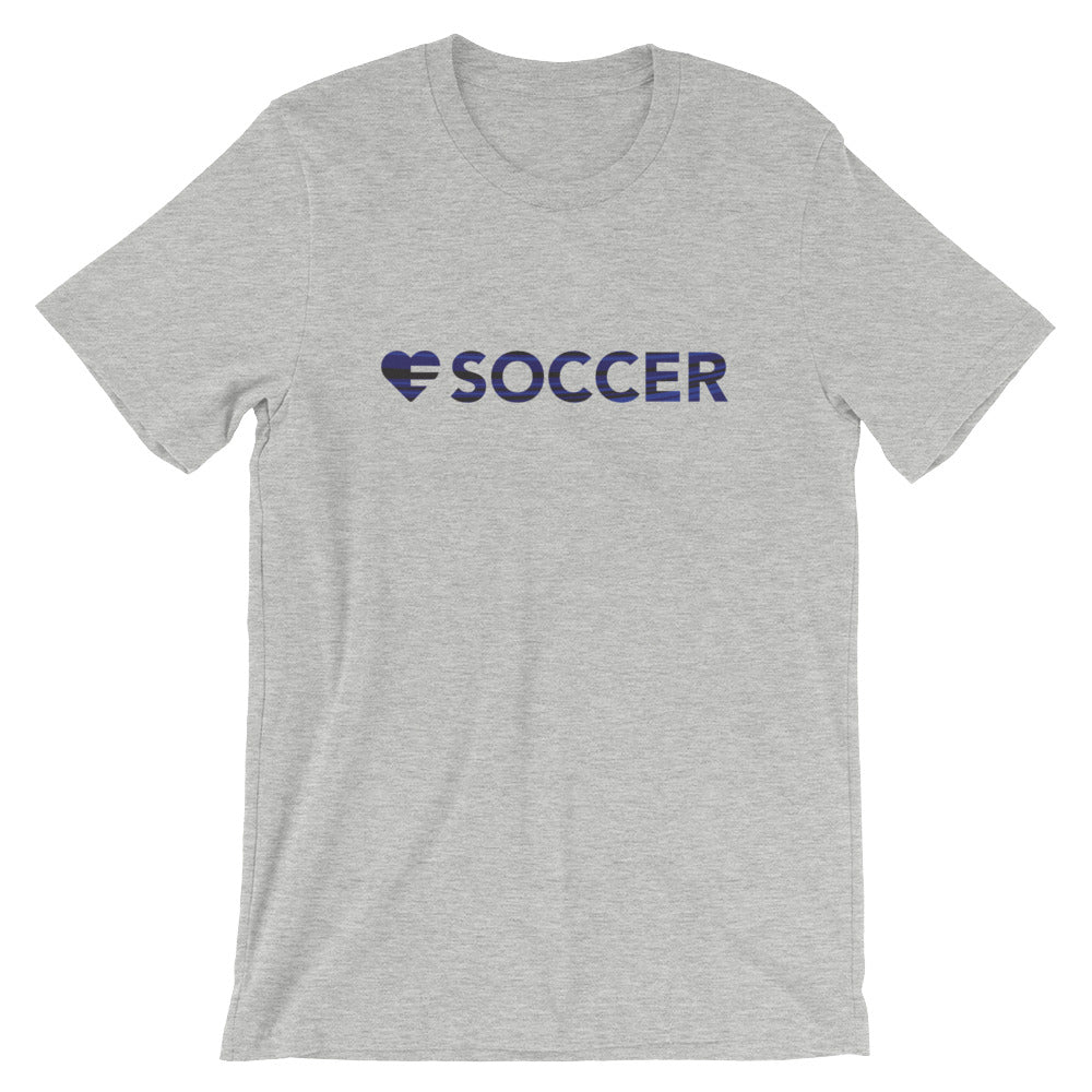 Athletic Grey Heart=Soccer Unisex Tee