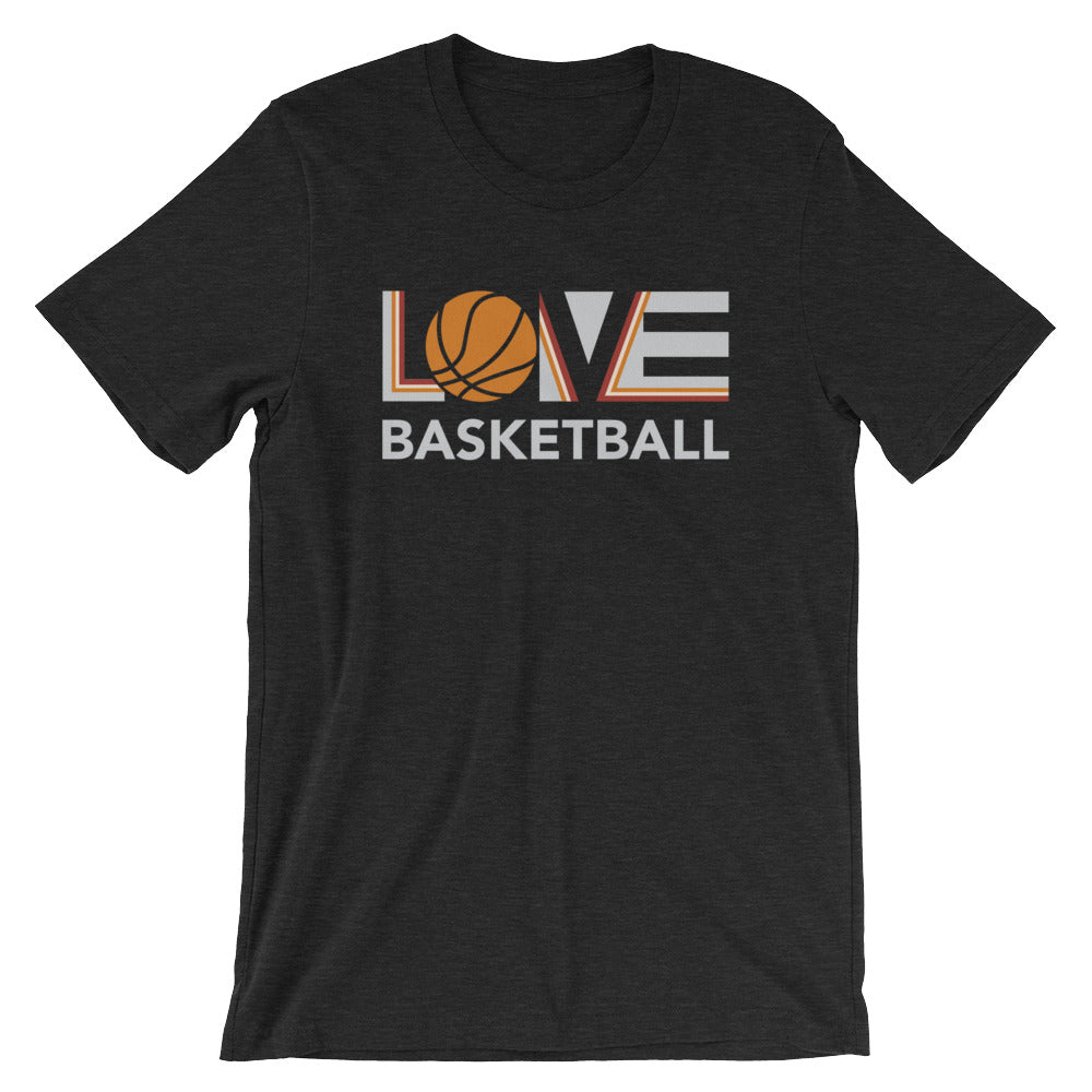 Black LOV=Basketball Unisex Tee