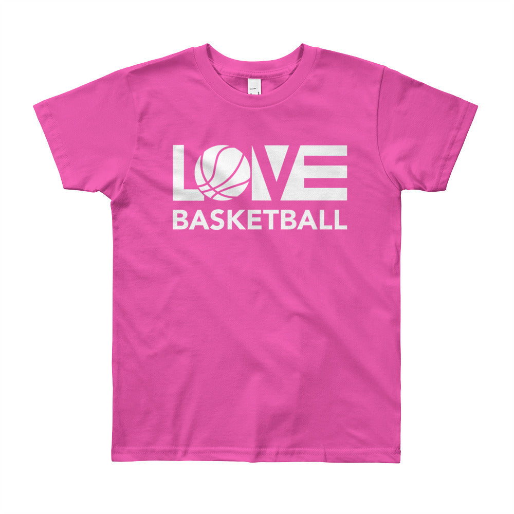 Fuchsia LOV=Basketball Youth Tee