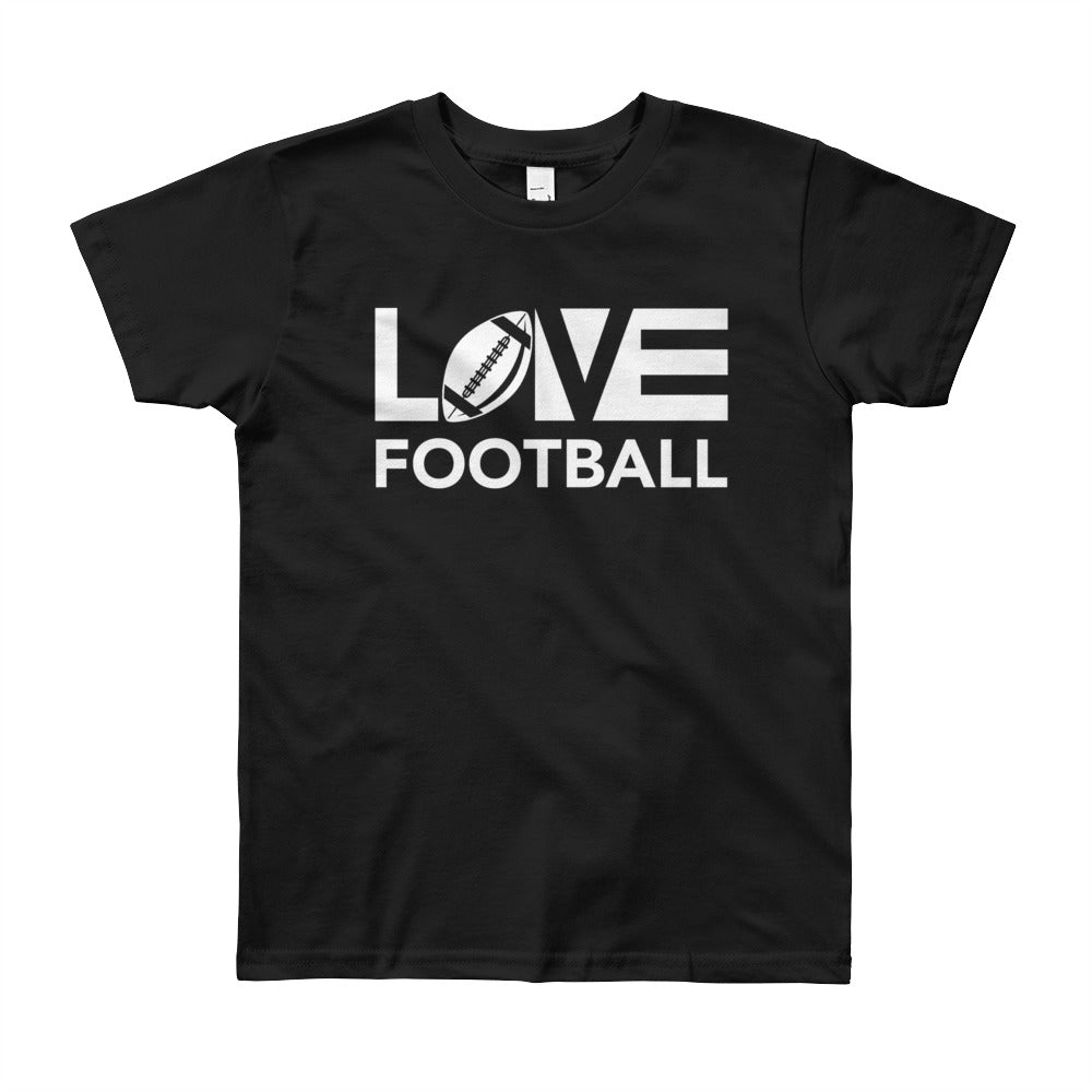 Black LOV=Football Youth Tee