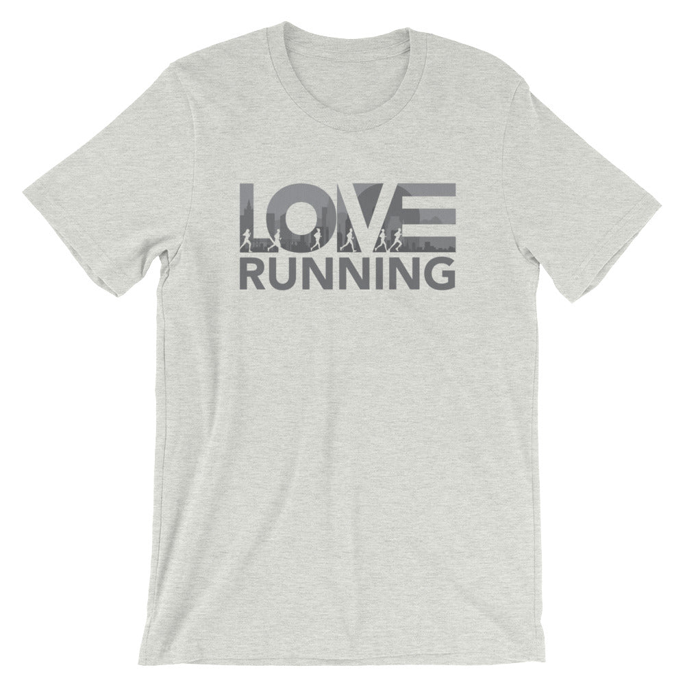 Athletic heather LOV=Running Unisex Tee
