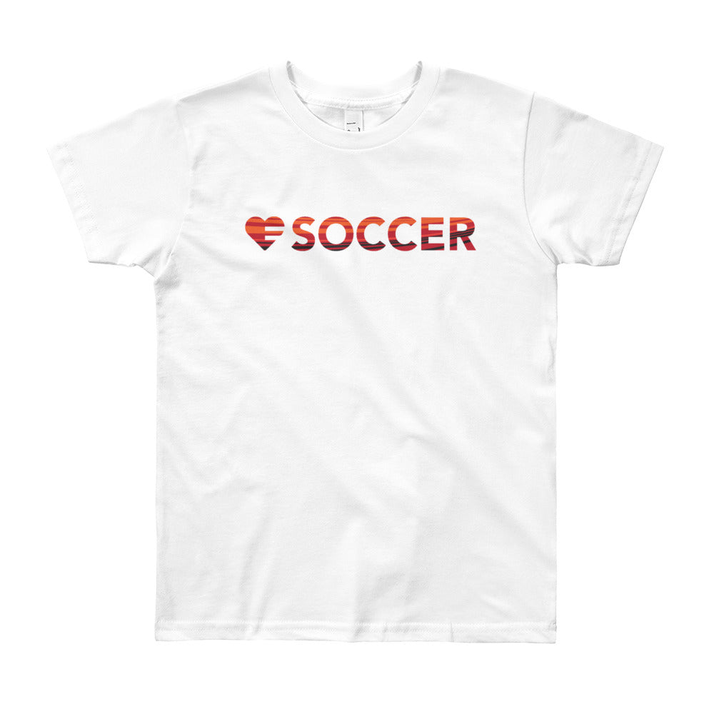 White Heart=Soccer Youth Tee