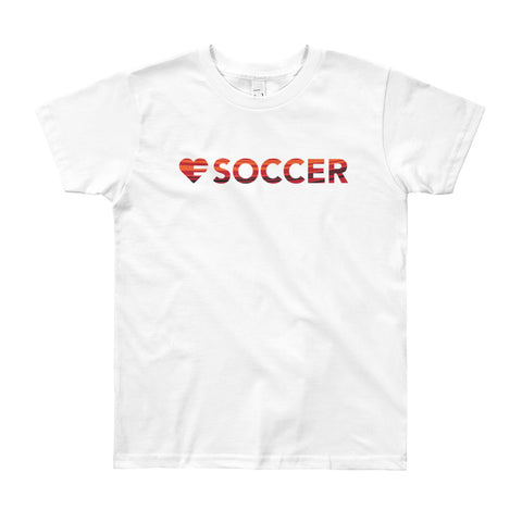 Heart=Soccer Youth Tee (8yrs-12yrs)