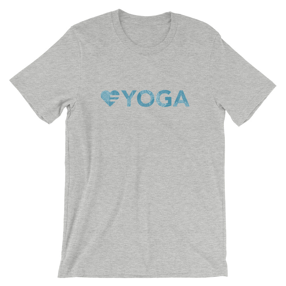 Athletic heather Heart=Yoga Unisex Tee