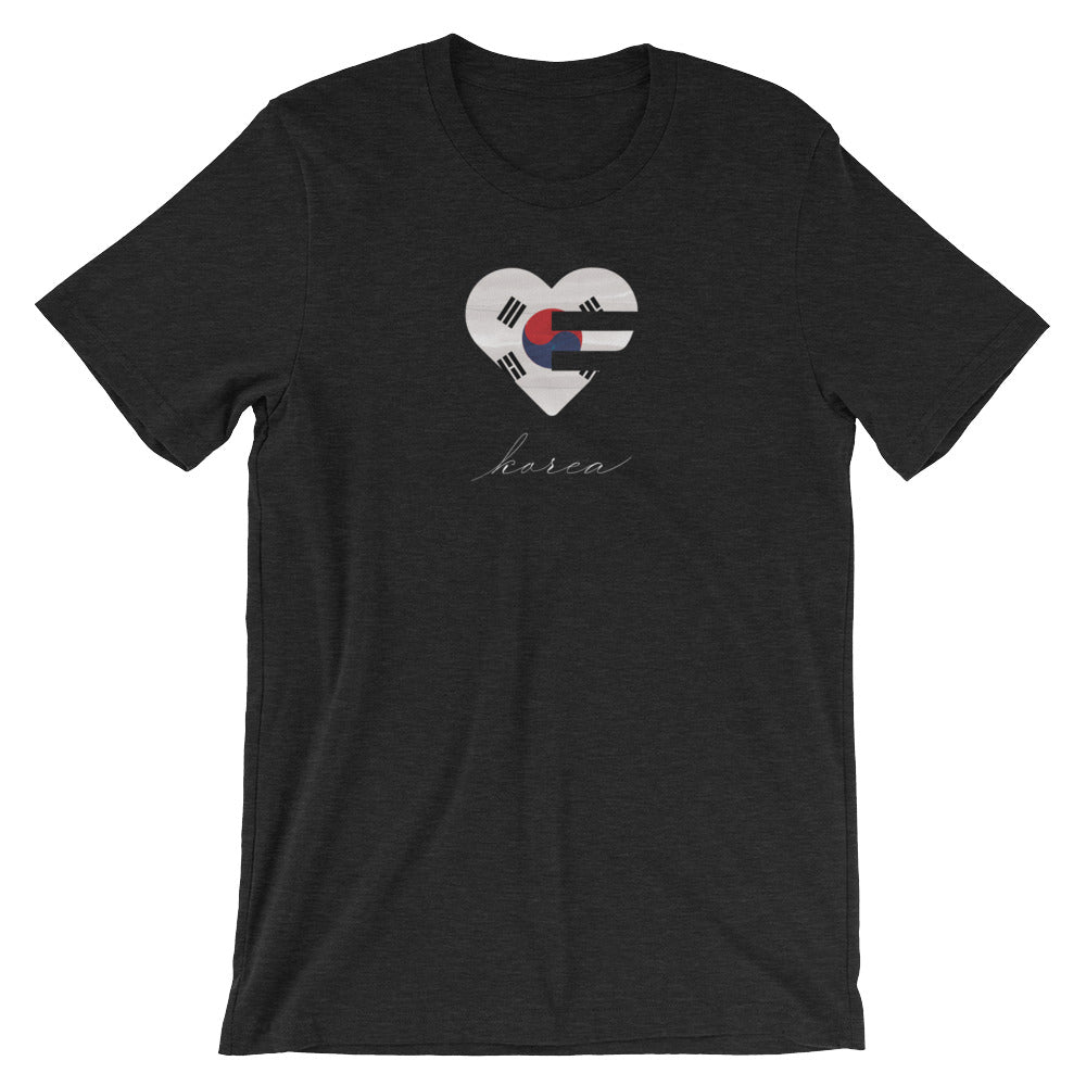 Dark grey Korea Heart Unisex Tee