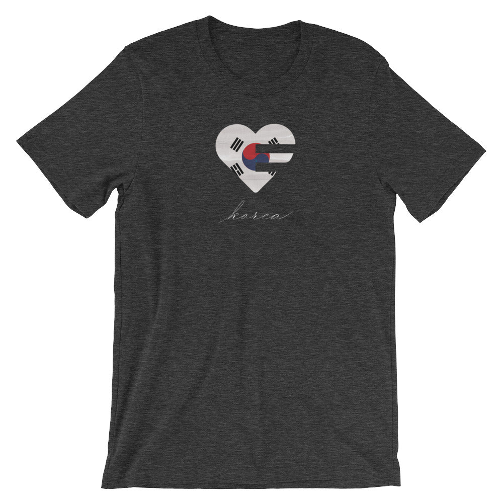 Black Korea Heart Unisex Tee