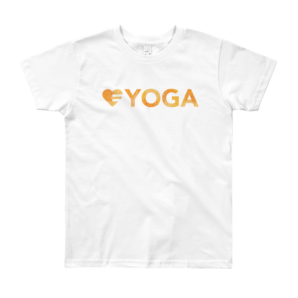 White Heart=Yoga Youth Tee