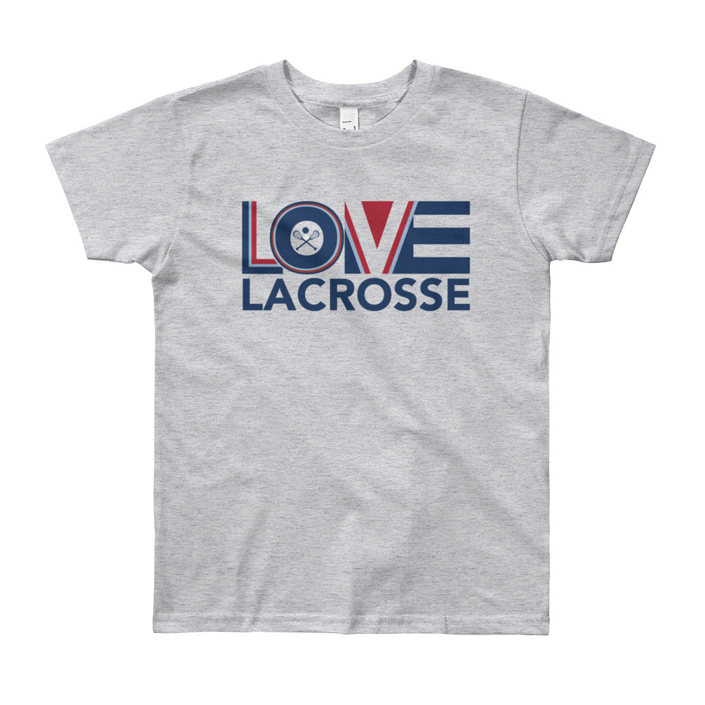 Heather grey LOV=Lacrosse Youth Tee
