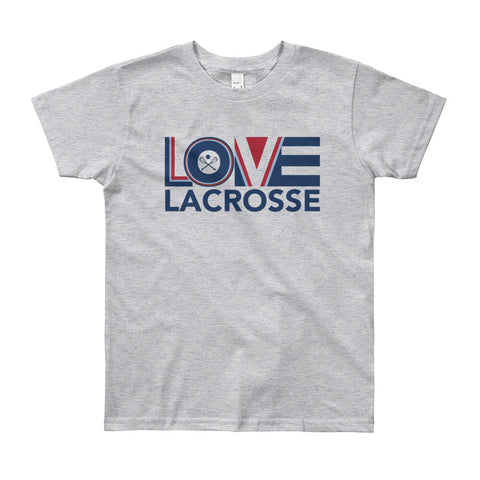 LOV=Lacrosse Youth Tee (8yrs-12yrs)