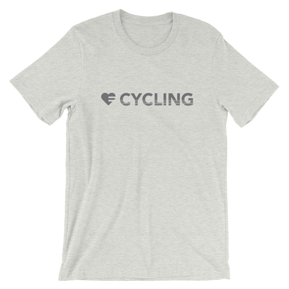 Ash Heart=Cycling Unisex Tee