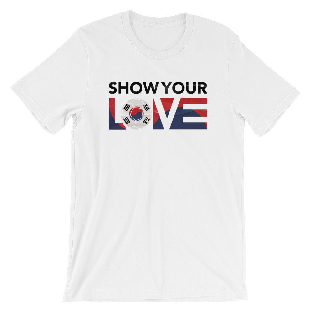 White Show Your Love Korea Unisex Tee