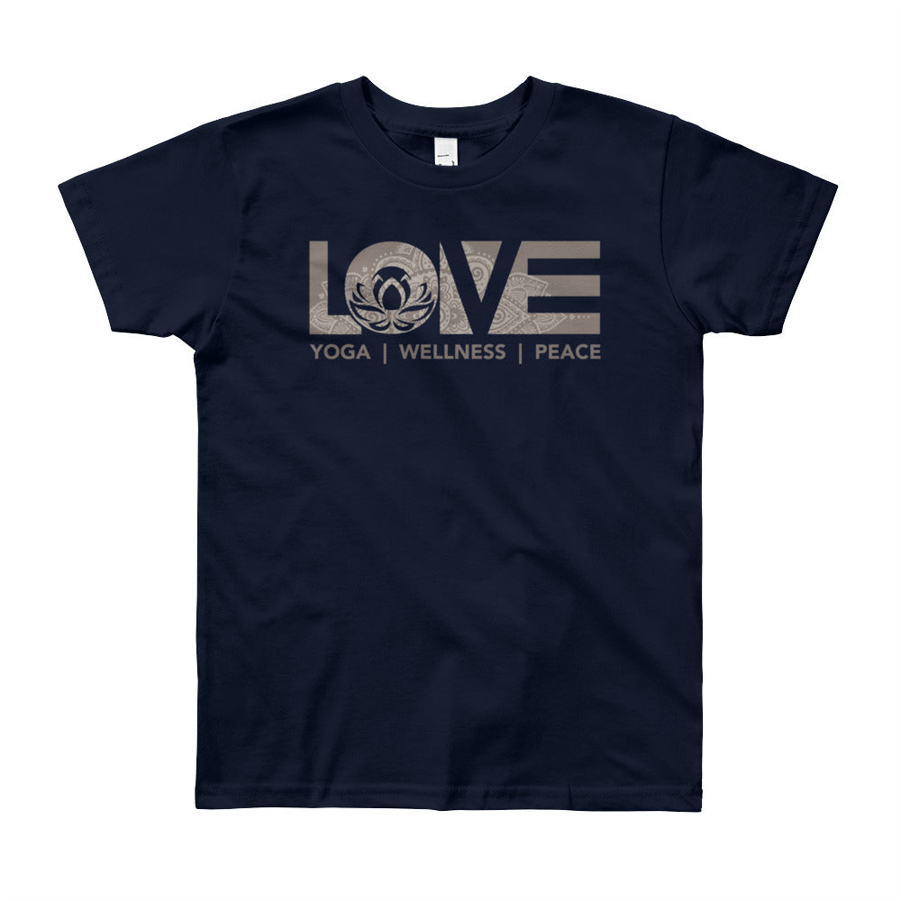 Navy LOV=Yoga Youth Tee