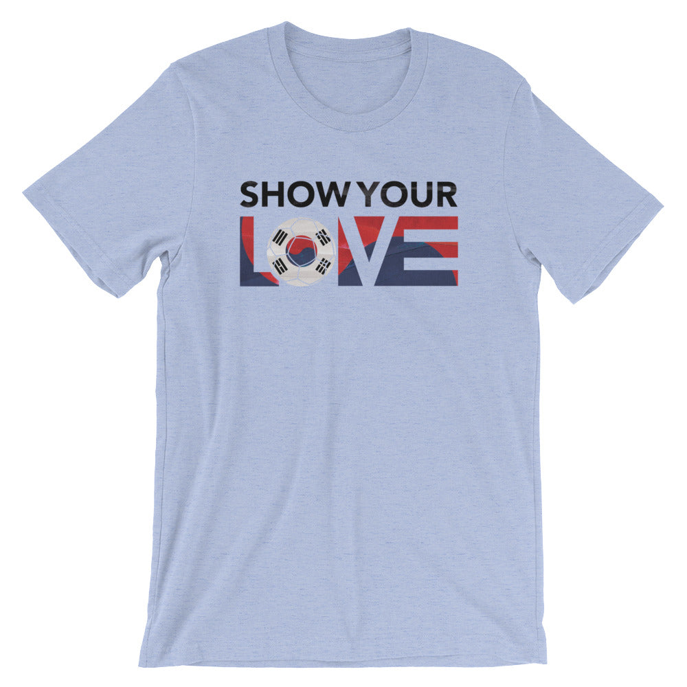 Heather Blue Show Your Love Korea Unisex Tee