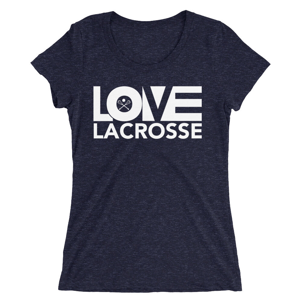 Navy LOV=Lacrosse Ultra Slim Fit Triblend Tee
