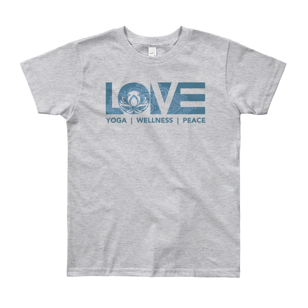 Grey LOV=Yoga Youth Tee