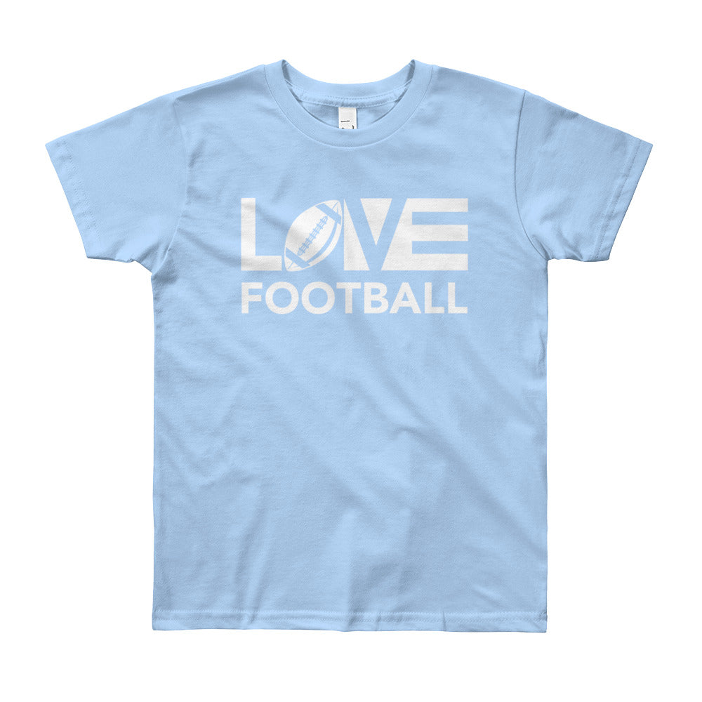 Baby blue LOV=Football Youth Tee