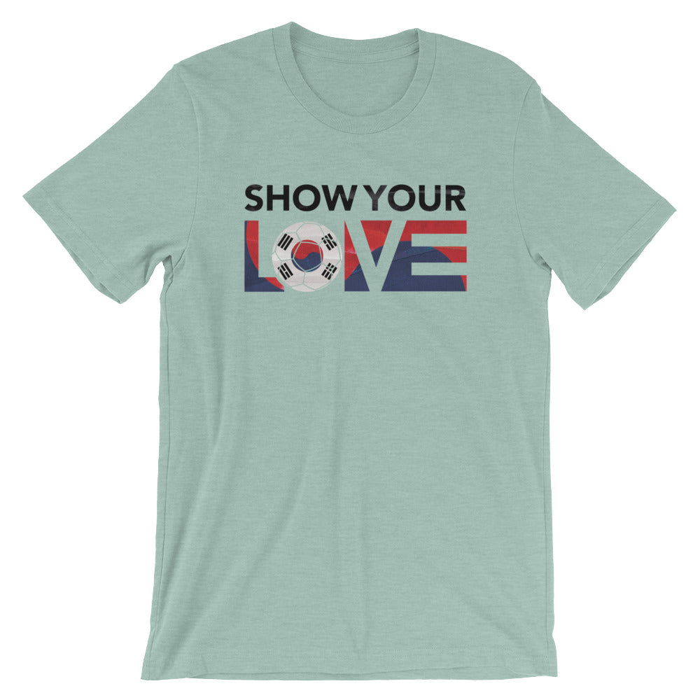 Heather Prism Dusty Blue Show Your Love Korea Unisex Tee