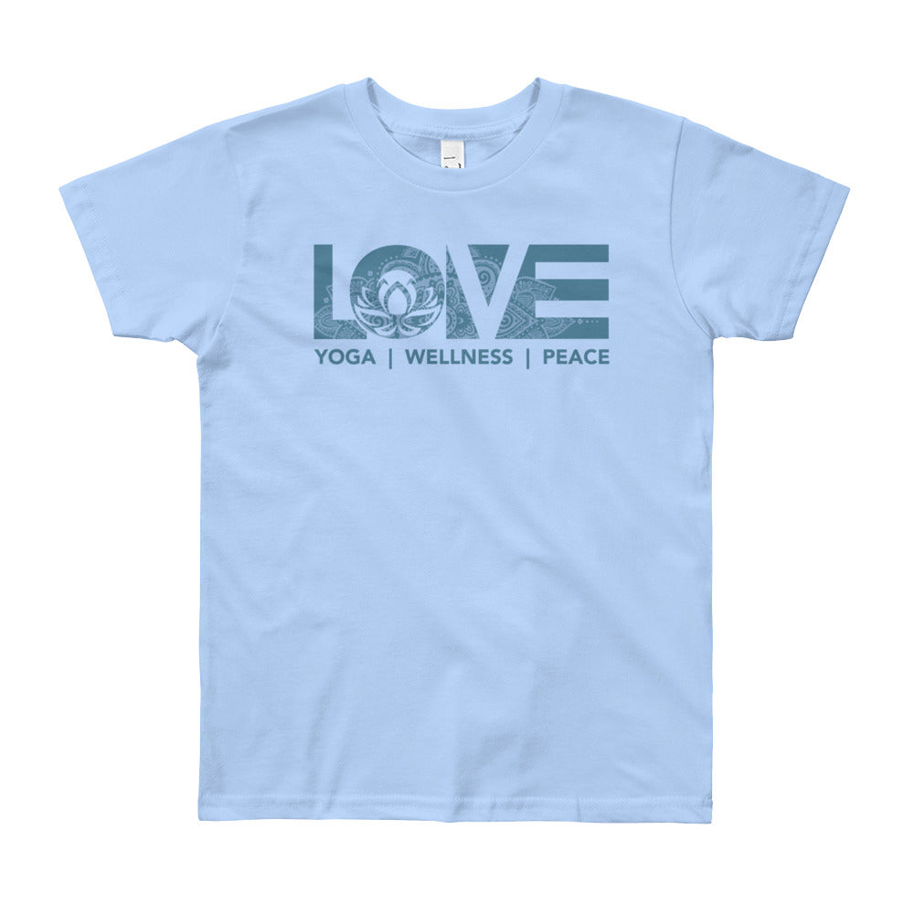 Baby Blue LOV=Yoga Youth Tee