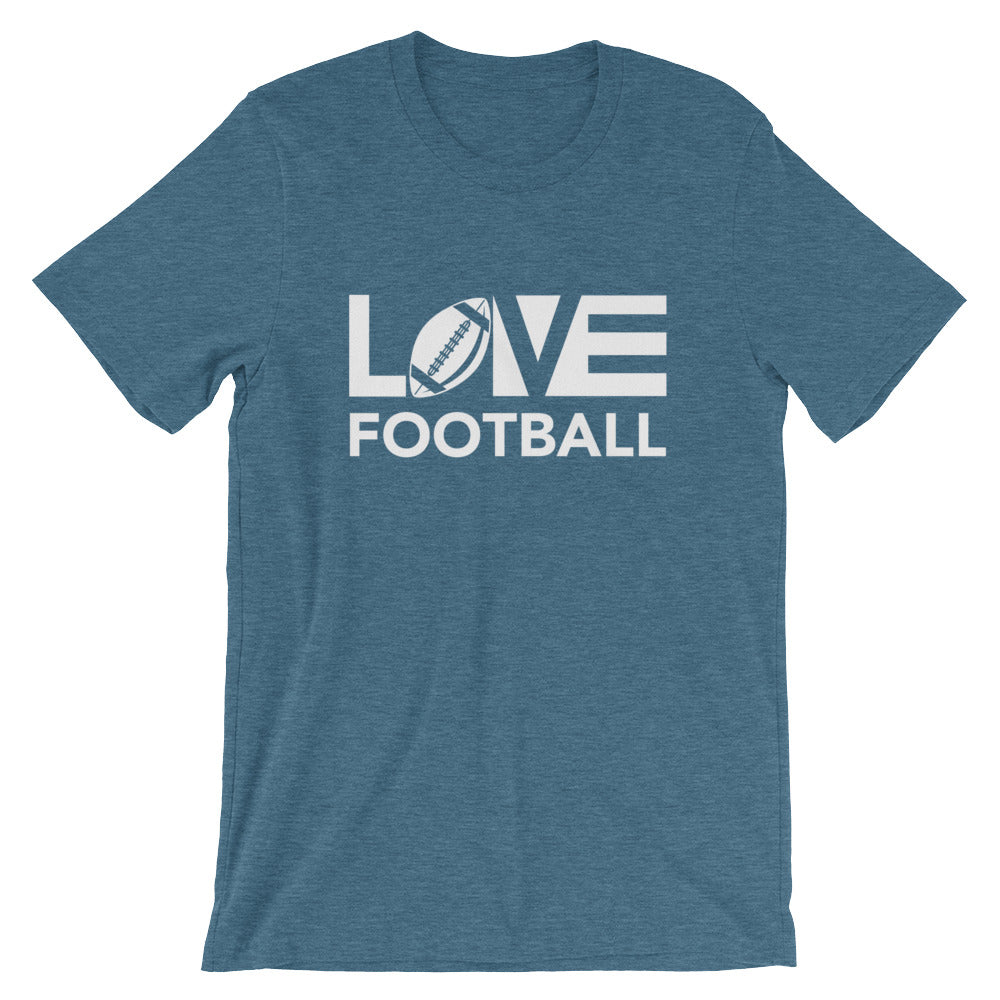 Deep teal LOV=Football Unisex Tee